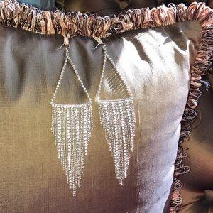 Beautiful sterling & crystal waterfall chandelier